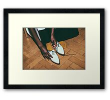 "London Fashion Week ""Lace Up's"" Framed Print"