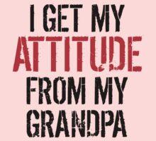 I Get My Attitude From My Grandpa Kids Tee