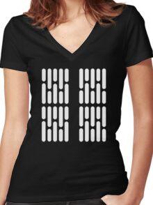 Star Wars: Light Panels Women's Fitted V-Neck T-Shirt