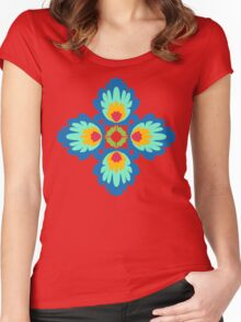 Folklore Rythmes Kaleidoscope Women's Fitted Scoop T-Shirt