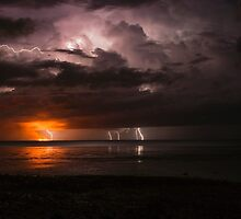 roebuck bay lighting and fire  by Elliot62