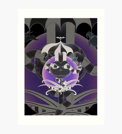 BeetleJack Invert2 - black Art Print