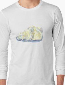 polar bear and young bear Long Sleeve T-Shirt