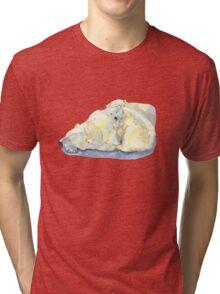 polar bear and young bear Tri-blend T-Shirt