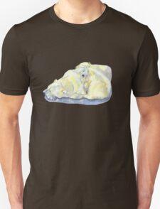 polar bear and young bear Unisex T-Shirt