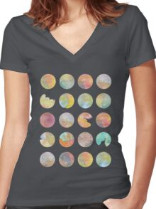 Colored World Women's Fitted V-Neck T-Shirt