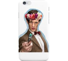 Eleventh Doctor with Flower Crown iPhone Case/Skin