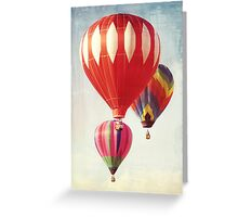 Hot Air Balloon Trio Greeting Card