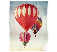 Hot Air Balloon Trio Poster