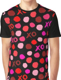 XOXO Love // hearts dots valentines day reds pastel and white by andrea lauren Graphic T-Shirt