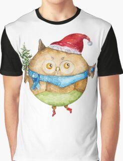 Christmas owl Graphic T-Shirt