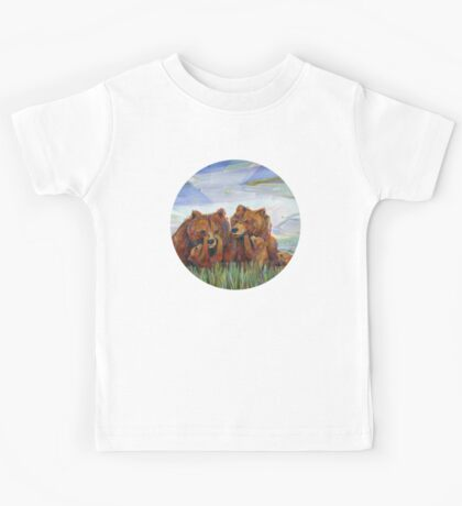 Grizzly bears painting - 2012 Kids Tee