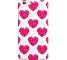 Love Heart geometric valentines day pink and white minimal abstract valentine iPhone Case/Skin
