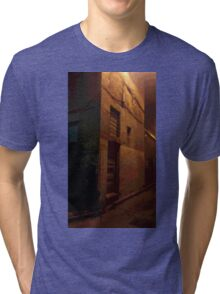 Mysterious Building in Laneway Tri-blend T-Shirt