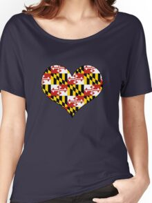 Maryland flag heart Women's Relaxed Fit T-Shirt