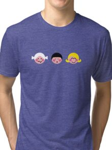 Funny Faces Tri-blend T-Shirt