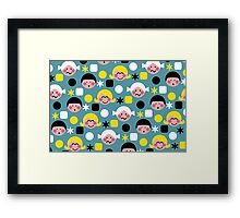 Funny Faces Framed Print