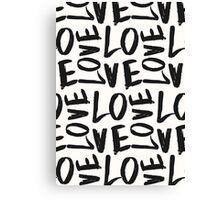 Love in Gray&Cream Canvas Print