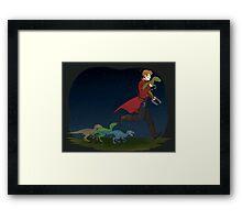 Dino Thief Framed Print