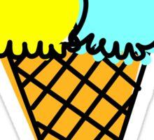 Yummy icecream in cone Sticker
