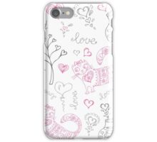 vector background with different cute animals iPhone Case/Skin