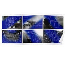 Vulcan Bomber Blue Prints Poster