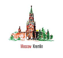 Kremlin, Red Square, Moscow, Russia Photographic Print
