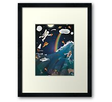 Intergalactic Undersea Pizza Party Framed Print