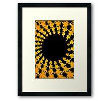 Dark Yellow Fractal Framed Print