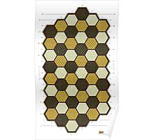 Hexes Chess game board Poster