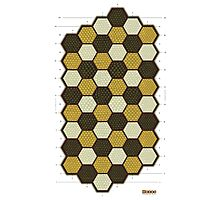 Hexes Chess game board Photographic Print