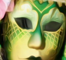 'Emerald Gold' - Venetian Mask Sticker