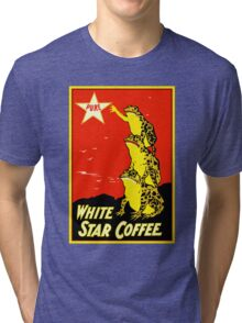 Retro vintage White Star Coffee ad, frogs Tri-blend T-Shirt