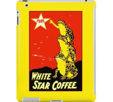 Retro vintage White Star Coffee ad, frogs iPad Case/Skin