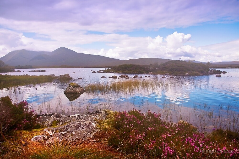 Colorful World of Rannoch Moor. Scotland by JennyRainbow