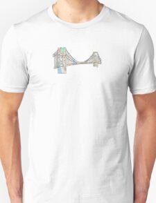 subway map new york city brooklyn bridge T-Shirt