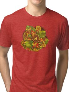 Abstract Flower Element Isolated Tri-blend T-Shirt