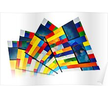 Rainbow Building Abstract #1 Poster