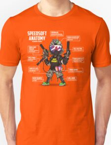 SPEEDSOFT ANATOMY TAPP TEE (White writing) Unisex T-Shirt
