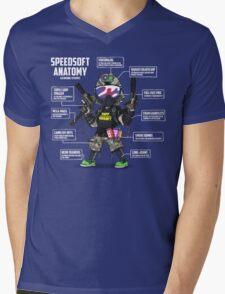 SPEEDSOFT ANATOMY TAPP TEE (White writing) Mens V-Neck T-Shirt