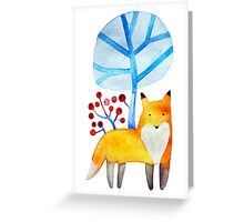 Fox in a winter forest Greeting Card