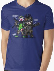 Airsoft and Speedsoft (White writing) Mens V-Neck T-Shirt