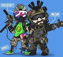 Airsoft and Speedsoft (White writing) by hiwez