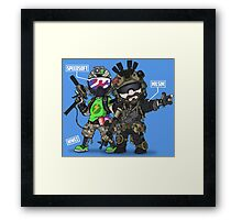 Airsoft and Speedsoft (White writing) Framed Print