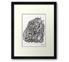 Cosmographic head Framed Print