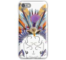 Indian flys fishing head dress with askull of hooks iPhone Case/Skin