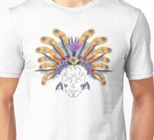 Indian flys fishing head dress with askull of hooks Unisex T-Shirt
