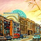 QUEBEC PAINTING BY QUEBEC ARTIST BARON BYNG HIGH SCHOOL MONTREAL CANADIAN ART by Carole  Spandau