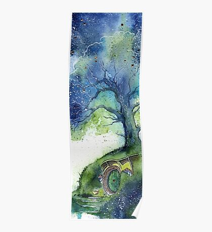 Oak Tree Fireflies Poster