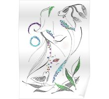 black and white fairy  Poster